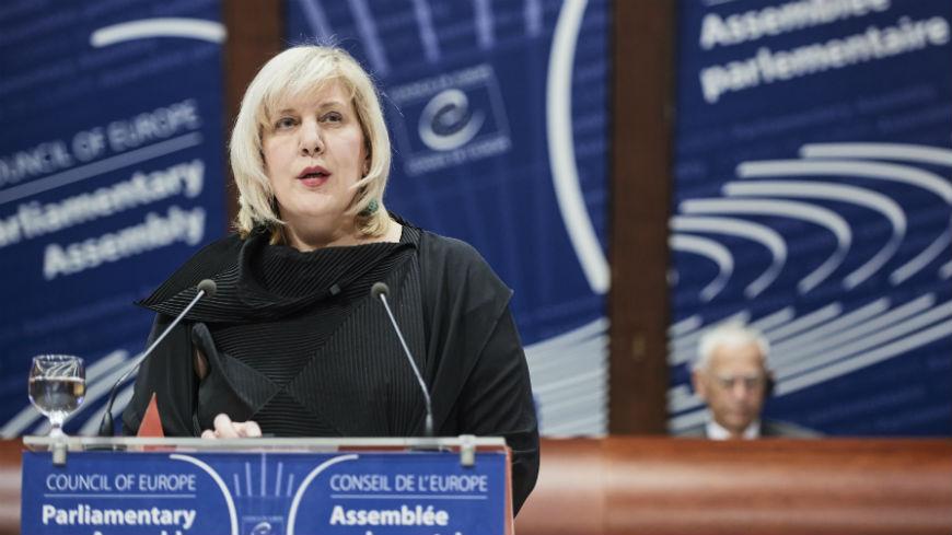 Дуня Миятович, Комисар по правата на човека, се обръща към Парламентарната Асамблея на Съвета на Европа